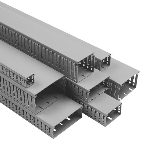Efapel 14020 CCZ Короб перфорированный 40х40 в комплекте с крышкой, серый